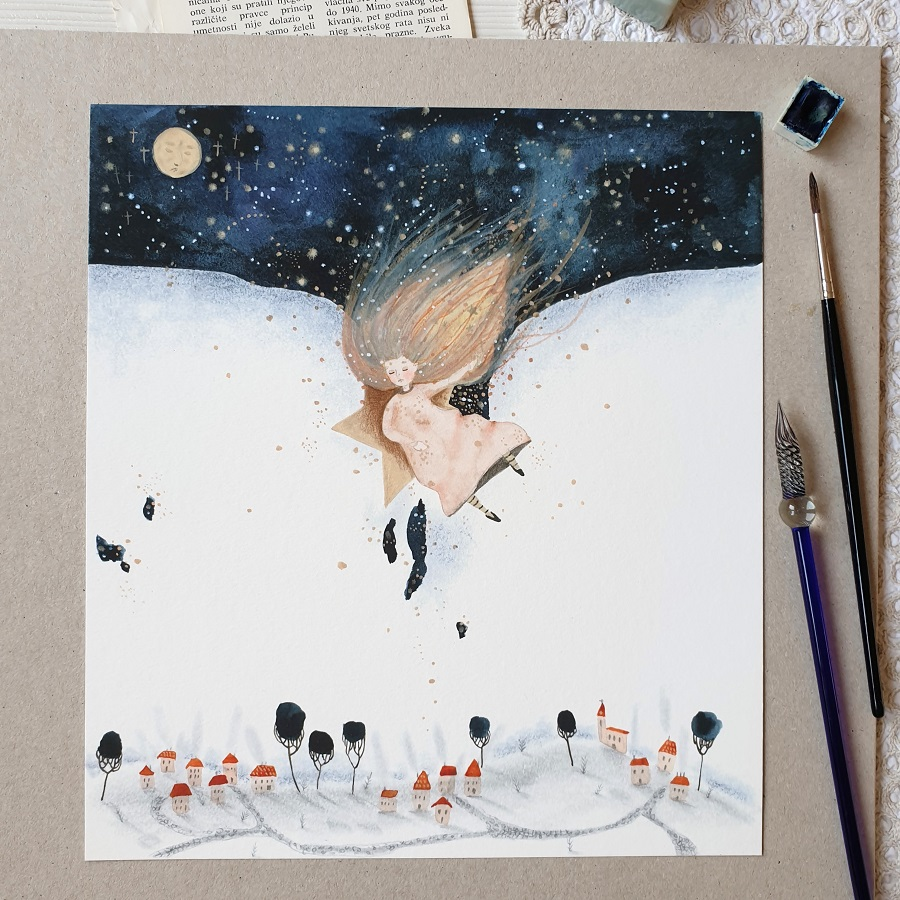 Painting of a The Sleepy Twinkle Star
